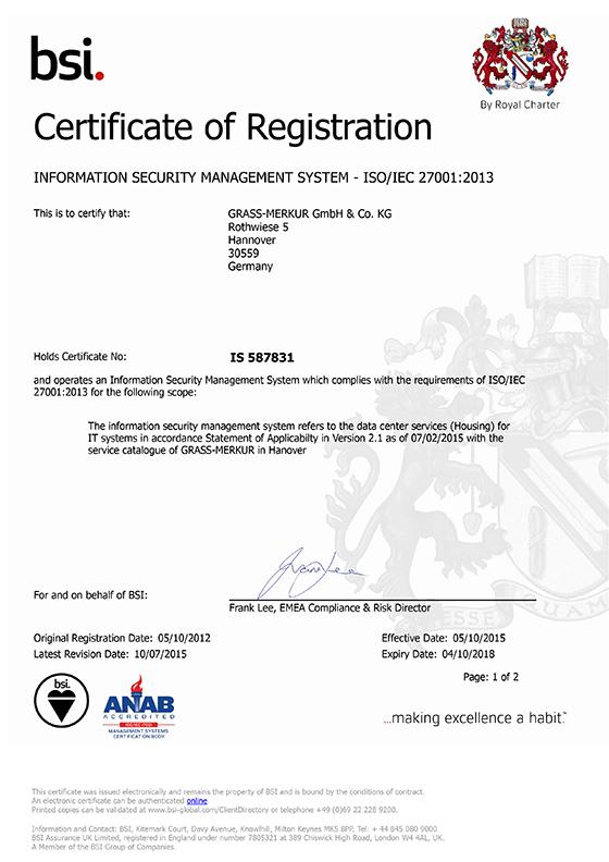 GRASS-MERKUR-Zertifikat-ISO-27001_2013